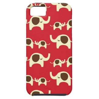 Good luck elephants cherry red cute nature pattern iphone 5 cases