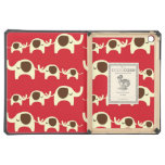 Good luck elephants cherry red cute nature pattern iPad air cover