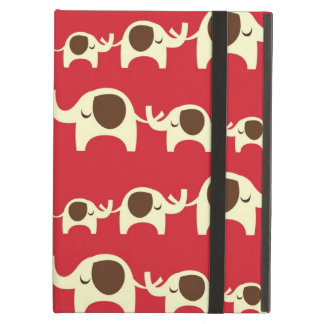 Good luck elephants cherry red cute nature pattern iPad cover