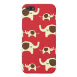 Good luck elephants cherry red cute nature pattern iPhone 5 cover