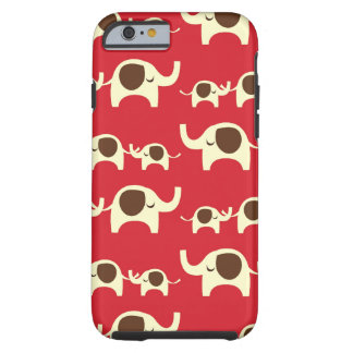 Good luck elephants cherry red cute nature pattern iPhone 6 case