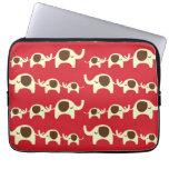 Good luck elephants cherry red cute nature pattern laptop computer sleeve