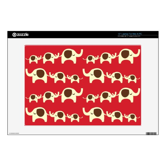 Good luck elephants cherry red cute nature pattern laptop decals