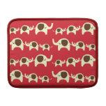 Good luck elephants cherry red cute nature pattern MacBook air sleeves