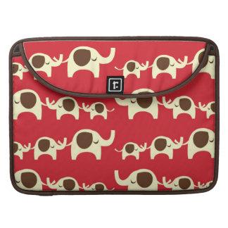 Good luck elephants cherry red cute nature pattern MacBook pro sleeve