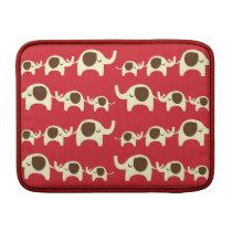 Good luck elephants cherry red cute nature pattern MacBook sleeve