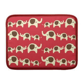Good luck elephants cherry red cute nature pattern MacBook sleeve