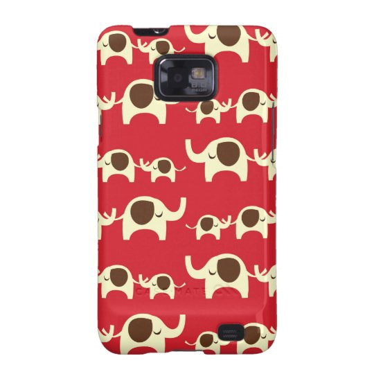 Good luck elephants cherry red cute nature pattern samsung galaxy s2 case