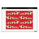 Good luck elephants cherry red cute nature pattern laptop skin