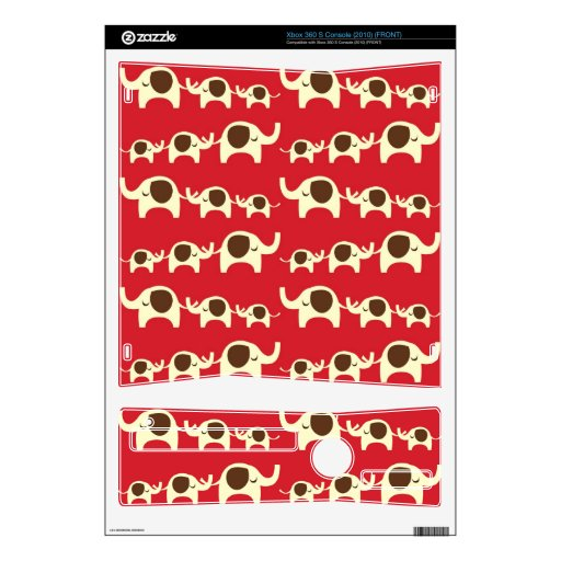 Good luck elephants cherry red cute nature pattern xbox 360 s decal