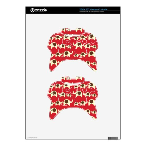 Good luck elephants cherry red cute nature pattern xbox 360 controller skin