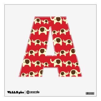 Good luck elephants cherry red cute nature pattern wall sticker