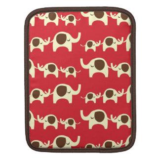 Good luck elephants cherry red iPad iPad 2 sleeve iPad Sleeve