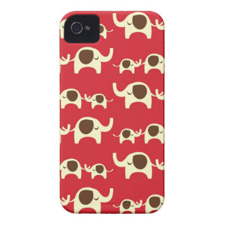 Good luck elephants cherry red iPhone 4S case skin Case-Mate iPhone 4 Cases