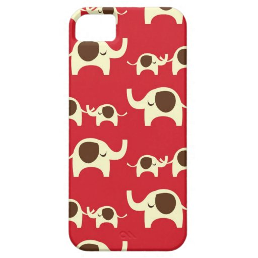Good luck elephants cherry red iPhone 5S case skin iPhone 5 Case