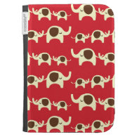 Good luck elephants cute animal nature red pattern case for the kindle