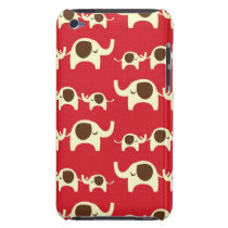 Good luck elephants cute animal nature red pattern iPod touch case