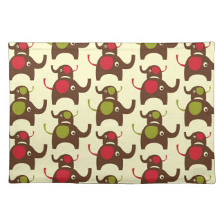 Good luck elephants cute elephant nature pattern cloth placemat
