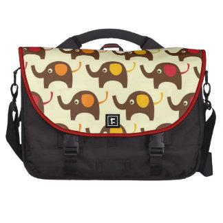 Good luck elephants kawaii cute nature pattern bag for laptop