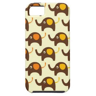 Good luck elephants kawaii cute nature pattern tan iPhone 5 cover