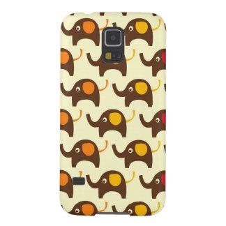 Good luck elephants kawaii cute nature pattern tan galaxy s5 cover