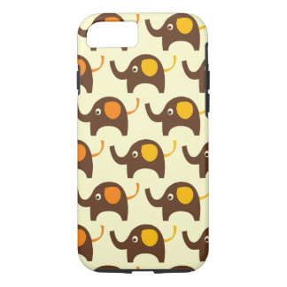 Good luck elephants kawaii cute nature pattern tan iPhone 8/7 case