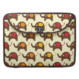Good luck elephants kawaii cute nature pattern tan MacBook pro sleeve