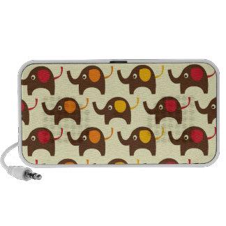 Good luck elephants kawaii cute nature pattern tan laptop speakers