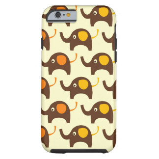 Good luck elephants kawaii cute nature pattern tan tough iPhone 6 case