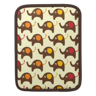 Good luck elephants pattern tan sleeves for iPads