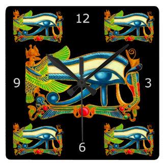 Good Luck Eye Of Horus Square Wall Clock