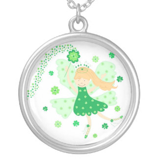 Good Luck fairy Round Pendant Necklace