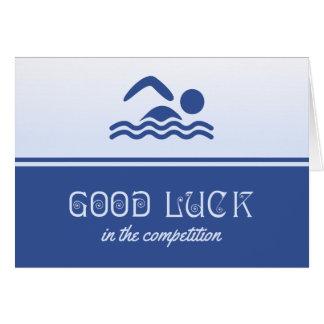 Good luck for swimmer blue card