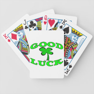 Good Luck Four Leaf Clover Bicycle Playing Cards