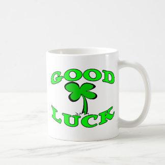 Good Luck Four Leaf Clover Coffee Mug