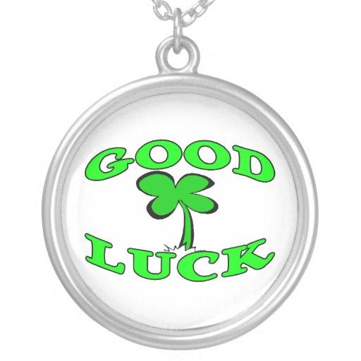 Good Luck Four Leaf Clover Custom Necklace