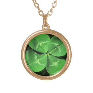 Good Luck FOUR-LEAF CLOVER Necklace