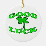 Good Luck Four Leaf Clover Ornament