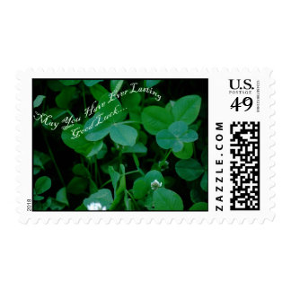 Good Luck Four Leaf Clover Postage