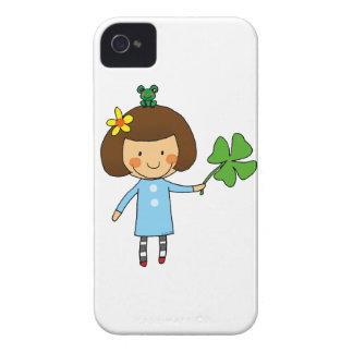 Good luck girl with a four leaf clover iPhone 4 case