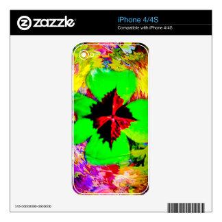 Good luck - Glücksbringer Kleeblatt iPhone 4 Skin