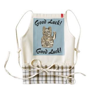 Good Luck! Good Luck! Lucky cat, Maneki-neko Zazzle HEART Apron