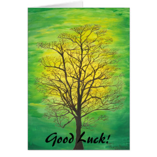 Good Luck Greeting Card - Green Tree