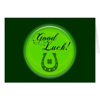 Good Luck Horse Shoe Card