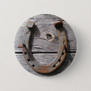 Good Luck Horseshoe Badge Name Tag Button at Zazzle