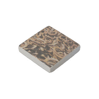 good luck, horseshoe stone magnet
