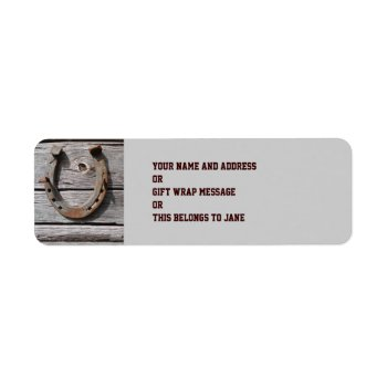 Good Luck Horseshoe Return Address Label by DigitalDreambuilder at Zazzle