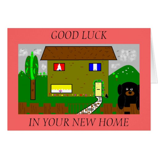 Good Luck In Your New Home Greeting Card Zazzle