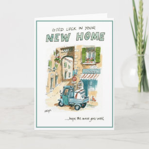 Good luck in your new home cards greeting photo cards zazzle good luck in your new home greeting card m4hsunfo