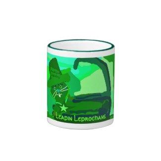 Good Luck Irish Kitty Leprochan Coffee Mug